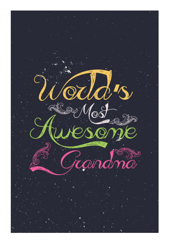 Awesome Grandma Calligraphy Art PosterGully Specials