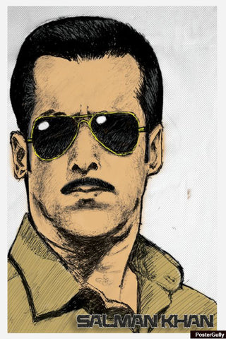 Wall Art, Salman Khan Artwork | Artist: Pankaj Lewarikar, - PosterGully - 1