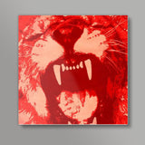 Hear me roar Square Art Prints | Artist : Durro Art