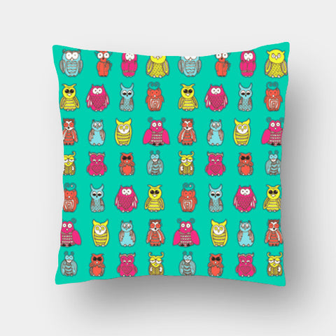 Cushion Covers, Curious Owls Cushion Covers | Artist : Suchita Pande, - PosterGully