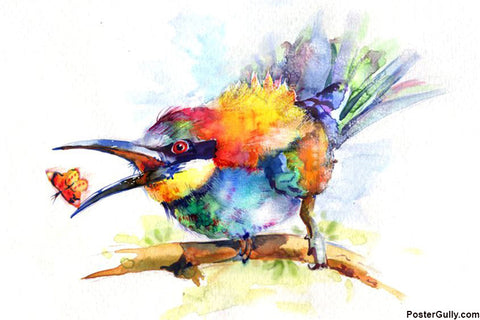 Brand New Designs, Bird Painting Artwork | Artist: Raviraj Kumbhar, - PosterGully - 1