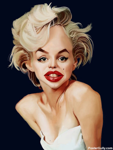 Wall Art, Marilyn Monroe Artwork | Artist: Sri Priyatham, - PosterGully - 1