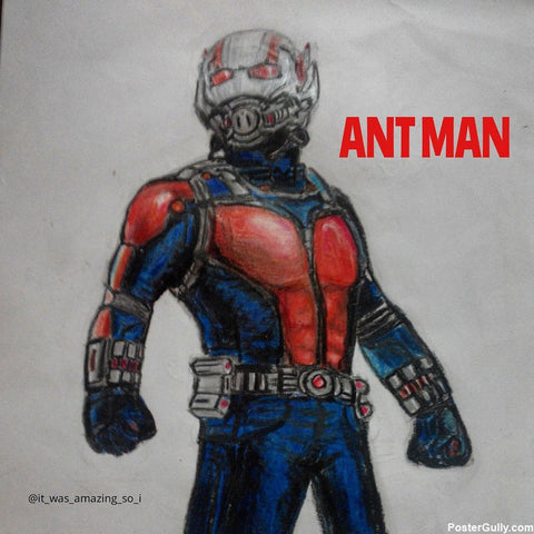 Square Art Prints, Antman Artwork | Artist: Salman Jamadar, - PosterGully