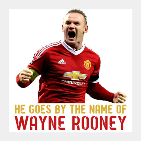 Wayne Rooney - Manchester United Square Art Prints | Artist : Syamantak Dubey