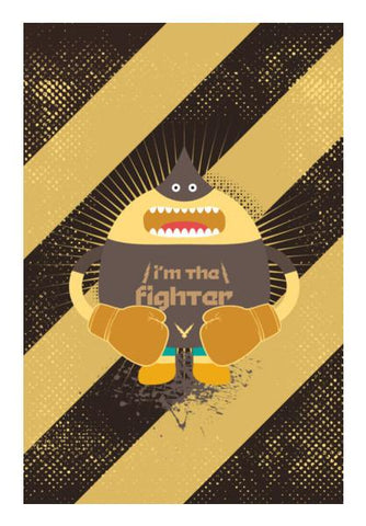 PosterGully Specials, I'm The Fighter Wall Art | Artist : Designerchennai, - PosterGully