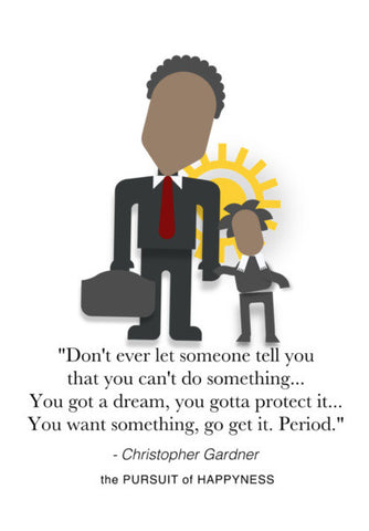The Pursuit of Happyness | Will Smith | Inspirational Quotes Wall Art | Artist : Sriparna Chandra