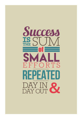 Success Typography Wall Art | Artist : Stuti Bajaj