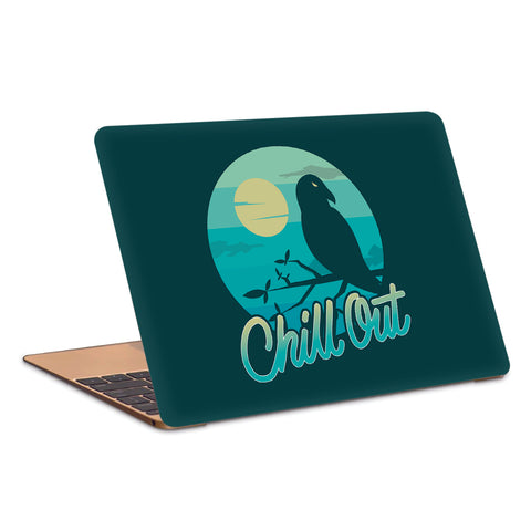 Crow Moon Chill Out Night Laptop Skin