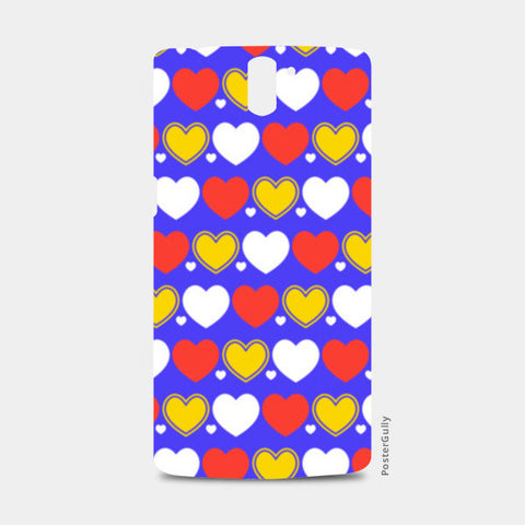 Hearts seamless multicolor pattern One Plus One Cases | Artist : Designerchennai