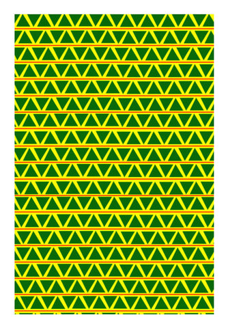 Green Triangle Art PosterGully Specials