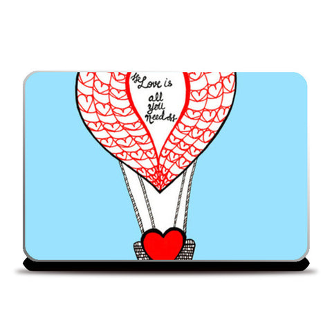 Laptop Skins, Love is all you need Laptop Skins | Artist : Amulya Jayapal, - PosterGully