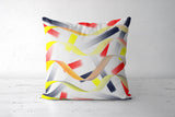 Colorful Straps Cushion Cover | Pratyasha Nithin