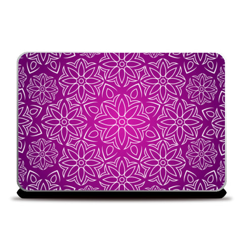 Abstract Flowers Laptop Skins | Artist : Madhumita Mukherjee