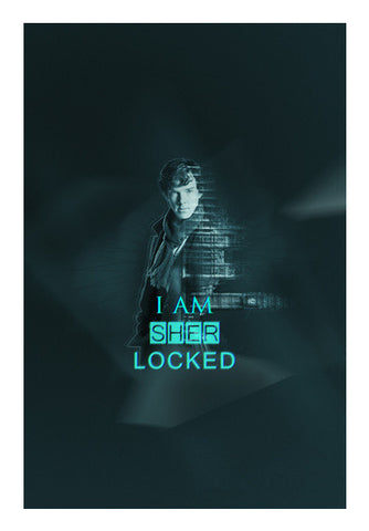 SHERLOCKED  Benedict Cumberbatch Art PosterGully Specials