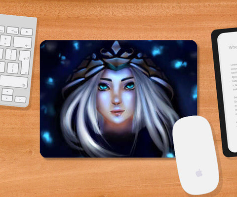 Ashe from league of legends Mousepad | Artist : Scribbles