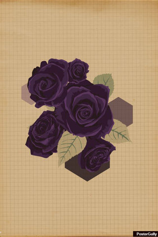 Wall Art, Rose Purple Artwork | Artist: Priyanka Kapoor, - PosterGully
