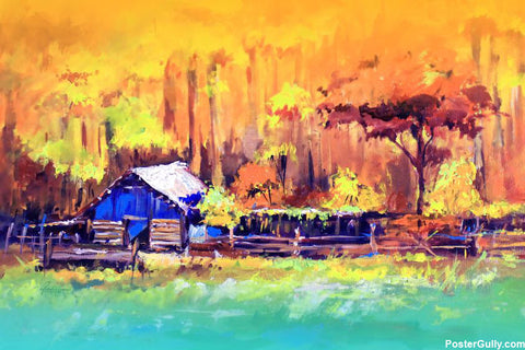 Brand New Designs, Scenery Painting Nature Artwork | Artist: Raviraj Kumbhar, - PosterGully - 1