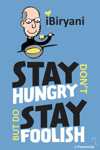 Wall Art, Steve Jobs-Stay Hungry Stay Foolish Artwork | Artist:MyArtini Bar, - PosterGully - 1