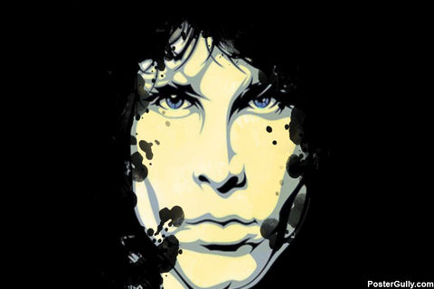 Wall Art, Jim Morrison Pop Art White Artwork | Artist: Athul Menon, - PosterGully - 1