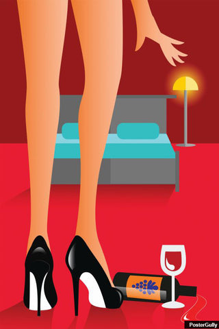 Brand New Designs, Wine N Legs Artwork | Artist: Abhishek Faujdar, - PosterGully - 1