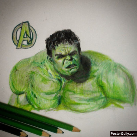 Square Art Prints, Hulk Green Artwork | Artist: Salman Jamadar, - PosterGully