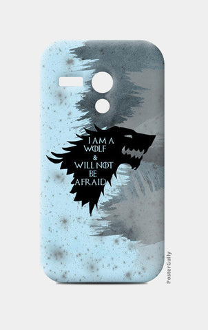 I'm a wolf and will not be afraid Moto G Cases | Artist : safira mumtaz