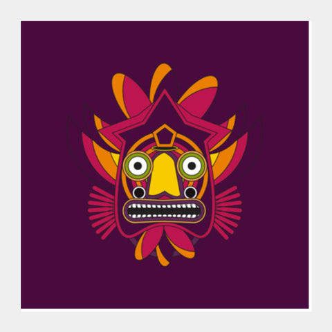 zulu warrior Square Art Prints | Artist : Designerchennai
