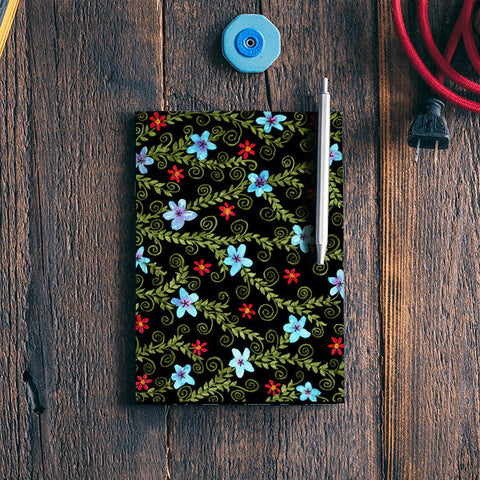 Colorful Watercolor Floral Painting Pattern  Notebook | Artist : Seema Hooda