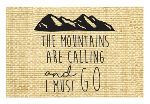 Wanderlust Travel Mountains are calling Wall Art  | Artist : Gauri Deshpande