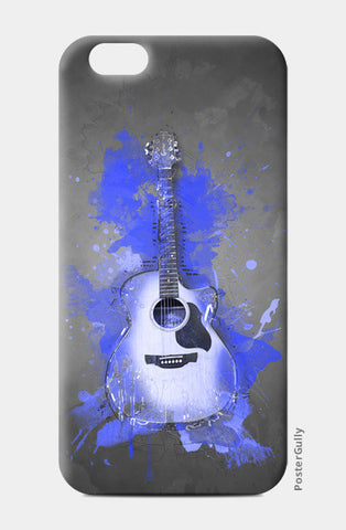 Guitar Splash – Blue iPhone 6/6S Cases | Artist : Darshan Gajara's Artwork