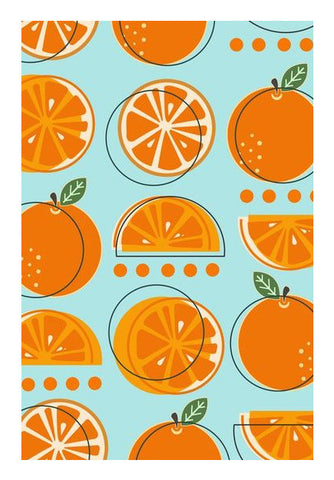 Orange Fruit Pattern  Wall Art | Artist : Nishit Shah