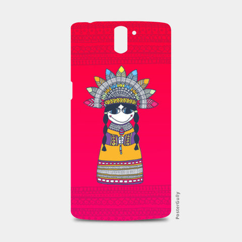 One Plus One Cases, Little Indian Lady One Plus One Cases | Artist : Suchita Pande, - PosterGully