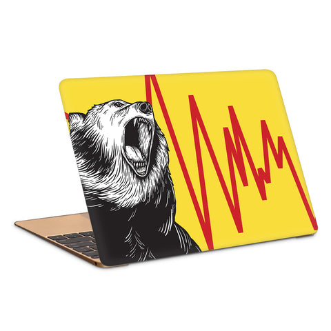 Angry Bear Artwork Laptop Skin