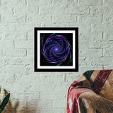 Psychedelic whirl Premium Square Italian Wooden Frames | Artist : Jessica Maria