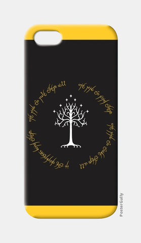 Lord of the ring Gondor white tree gold  iPhone 5 Cases | Artist : Gauri Deshpande