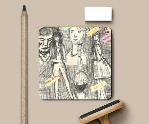 Coasters, Girls Coasters | Artist : Ankita Mishra, - PosterGully