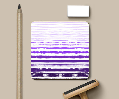Uneven Purple Stripes Coasters | Artist : Amantrika Saraogi