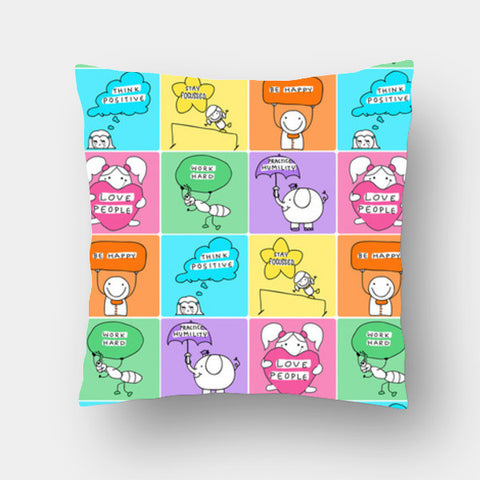 Cushion Covers, Happy Vibes Cushion Covers | Artist : Suchita Pande, - PosterGully