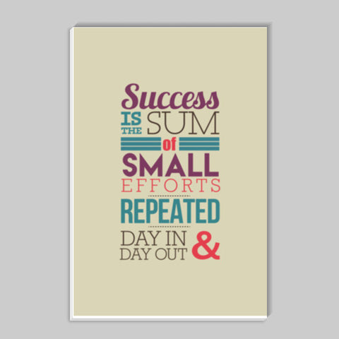 Success Typography Stick Ons | Artist : Stuti Bajaj