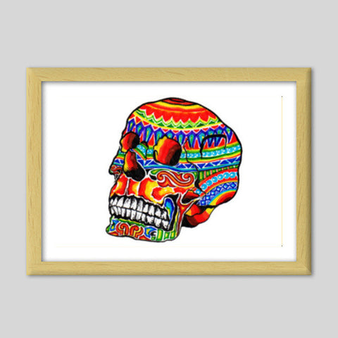 colorful life (after death) Premium Italian Wooden Frames | Artist : amit kumar
