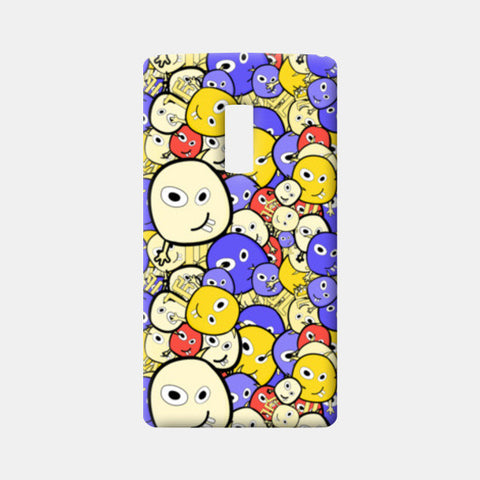 Doodle cartoon characters  One Plus Two Cases | Artist : Designerchennai
