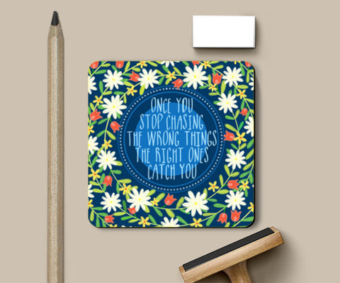MOTIVATIONAL QUOTE Coasters | Artist : Paper Pankh