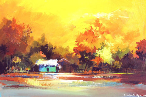 Brand New Designs, Scenery Painting Artwork | Artist: Raviraj Kumbhar, - PosterGully - 1