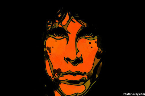 Wall Art, Jim Morrison Pop Art Red Artwork | Artist: Athul Menon, - PosterGully - 1