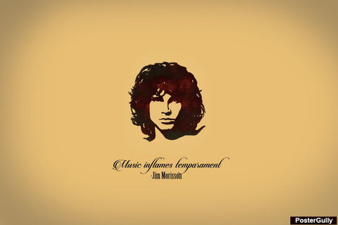 Wall Art, Jim Morrison Artwork | Artist: Athul Menon, - PosterGully - 1