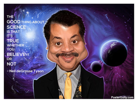 Wall Art, Neil De Grasse Tyson Artwork | Artist: Sri Priyatham, - PosterGully - 1