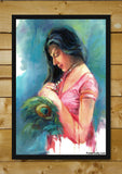 Brand New Designs, Love Painting Blue Artwork | Artist: Raviraj Kumbhar, - PosterGully - 2