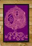 Brand New Designs, Buddhism Pink Purple Artwork | Artist: Meghnanimous, - PosterGully - 2