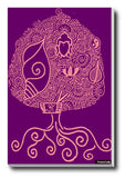 Brand New Designs, Buddhism Pink Purple Artwork | Artist: Meghnanimous, - PosterGully - 3