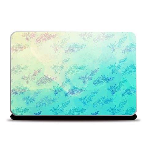 Blue Floral Water Colour Laptop Skins | Artist : Amantrika Saraogi
